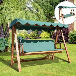 Cadeira de Baloiço e Cama de Jardim Varanda Baloiço-235 x 128 x 180 cm-Carga Máx. 400 kg