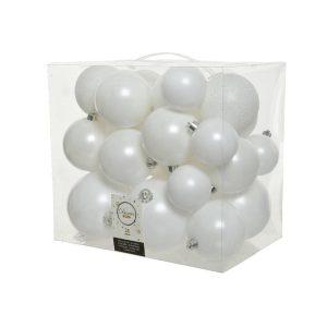 Caixa De 26 Bolas Brancas De Vários Tamanhos. Inclui 2X10Cm