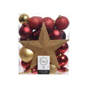 Caixa De Acessórios Para Árvore De Natal 33 Peças. Contém: U