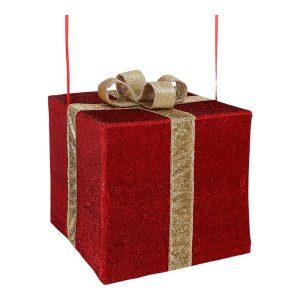 Caixa Vermelha Para Decoração 50X50X45Cm