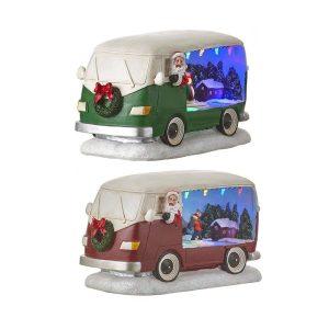Camioneta Do Pai Natal Verde/Vermelha Funciona A Pilhas 21
