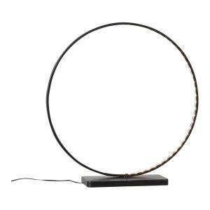 Candeeiro Led Decorativo Circular Preta 72 Leds 40X38X10Cm