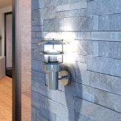 Candeeiro de parede / aço inoxidável