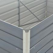 Canteiro-de-jardim-elevado-160x80x45cm-aço-galvanizado-cinzento-1