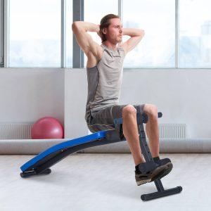 Carga 110kg Banco de Musculação Banco Abdominal Pesos Dobrável Ajustável a 4 Níveis para Fitness Treino Aço - 144x47cm