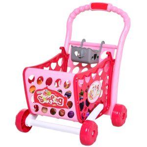Carrinho de compras para crianças acima de 3 anos 38 Peças Educacional rosa