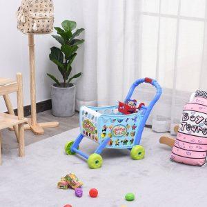Carrinho de compras para crianças com mais de 3 anos 38 peças azul