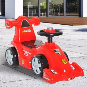 Carro Correpasillos Infantil Carro sem pedais para bebê Brinquedo andador Estilo de corrida com buzina 70.2x32.5x41cm