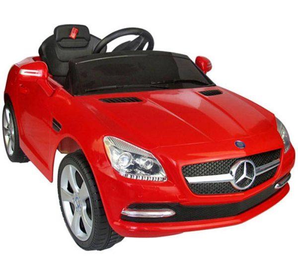 Carro Elétrico Infantil Bateria 6V Telecomando MP3 Buzina Luzes Mercedes Vermelho