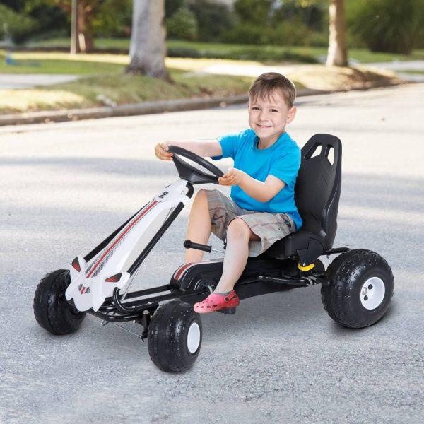 Carro de Pedais Desportivo com Assento Ajustável Embraiagem e Travão 101.5x65