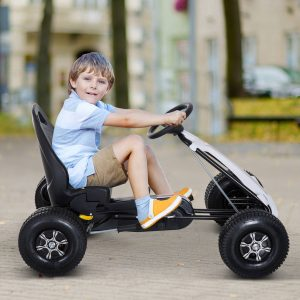 Carro de Pedais Go Kart Racing Desportivo com Assento Ajustável Embraiagem e Travão 103x64x59