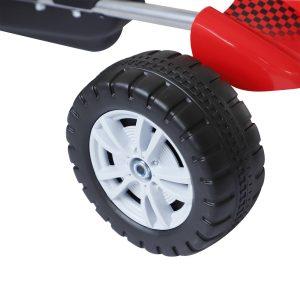 Carro de pedal Corrida de Kart com Assento Ajustável para Crianças 3-8 Anos de Carga 30kg Brinquedo Ao Ar Livre 80x49x50 cm Aço