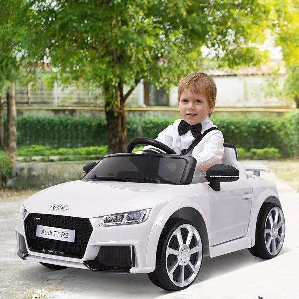 Carro elétrico infantil acima de 3 anos com controle remoto com música e luzes Bateria 6V 30 kg 103x63x44cm
