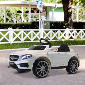 Carro elétrico para crianças a partir de 3 anos Mercedes Benz GLA com luzes de controle remoto carga 30kg carro infantil