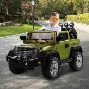 Carro elétrico para crianças acima de 3 anos com luzes e sons carrega 30kg 118x74x75cm