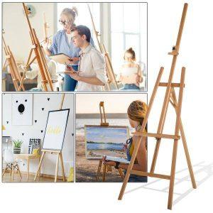 Cavalete De Madeira Cavalete de Pintura Desenho Estúdio Altura Ajustável Tripé 65x68x174-230 cm