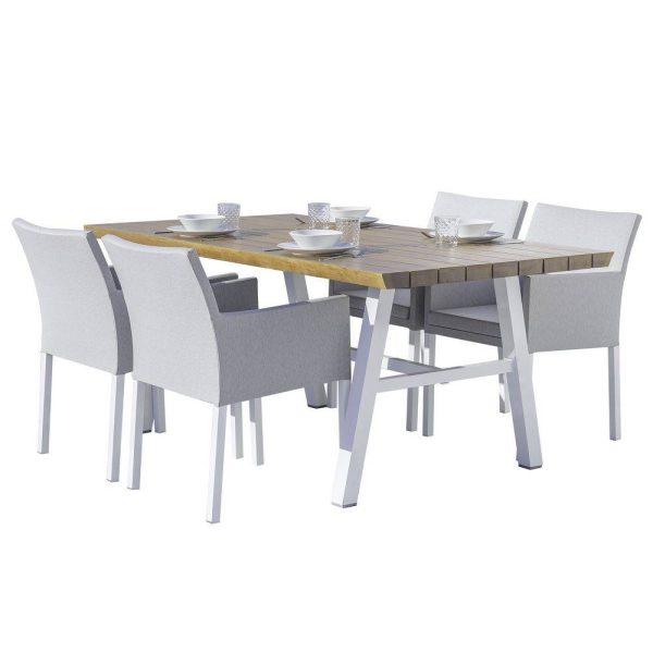 Conjunto De Jantar em Alumínio 4 Pax Cinza
