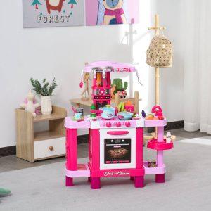 Conjunto de brinquedos educativos para crianças acima de 3 anos com 38 peças rosa