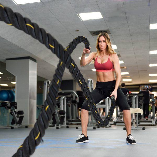 Corda Exercício Fitness desporto Crossfit Ф38mm Comprimento 12m Poliéster Ultra-Resistente