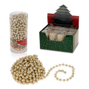 Corrente De Bolas Decorativa De Natal 750Cm Cor Dourado
