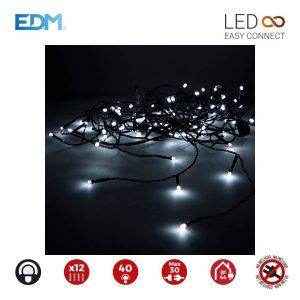 Cortina Easy-Connect Branco Frio 12 Filas 40 Leds Ip44 30V T