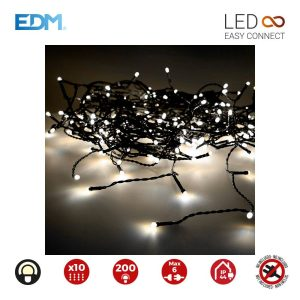 Cortina Easy-Connect Branco Quente 10 Filas 200 Leds Ip44 30