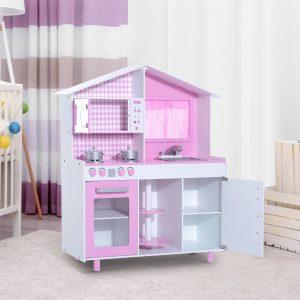 Cozinha Madeira Jogo para crianças +3 Anos Rosa110x32.5x99cm
