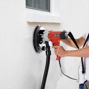 DURHAND® Lixadora de Parede Eléctrica Profissional com Saco para o Pó 6 Discos de Lixa