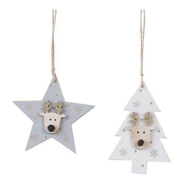 Decoração Para Arvore De Natal Modelo Estrela Cinzento Model