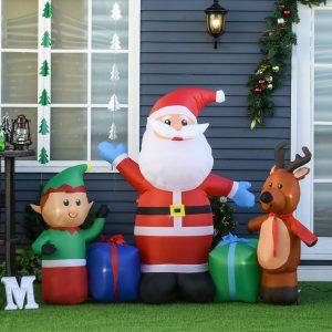 Decoração de natal Insuflável de 2 m de Papai Noel