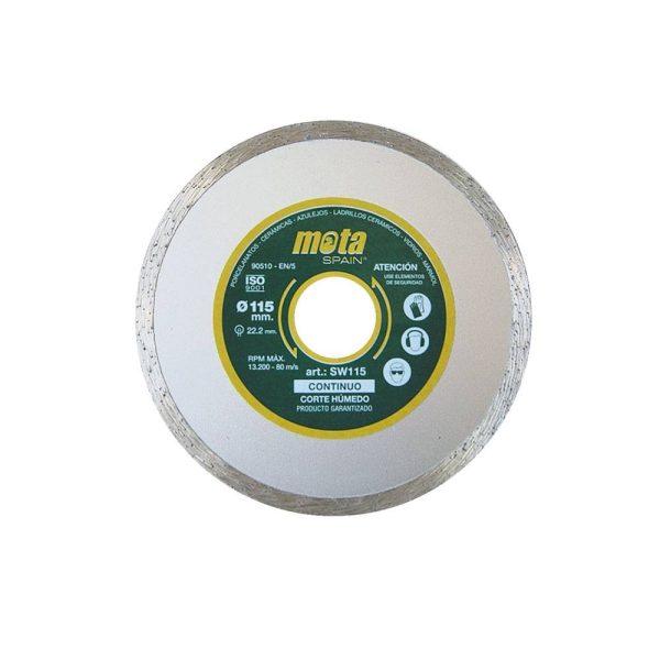 Disco Diamantado Liso Humido 230Mm Clp18  Sw230-P (Orificio