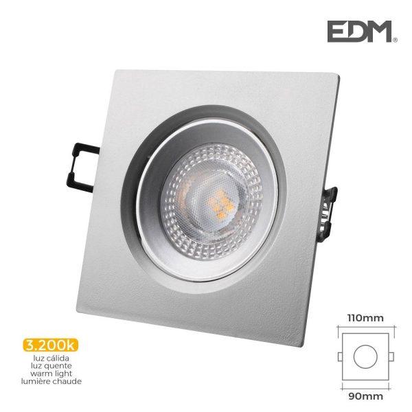 Downlight Led Encastrável 5W 380 Lumen 3.200K Quadrado Moldu