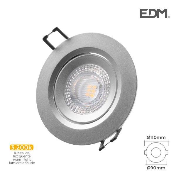 Downlight Led Encastrável 5W 380 Lumen  3.200K Redondo Moldu