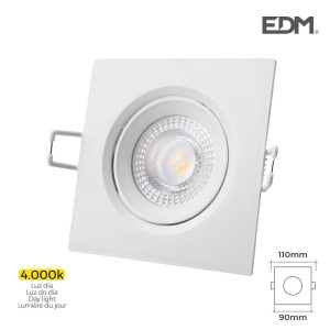 Downlight Led Encastrável 5W  380 Lumen 4.000K Quadrado Mold