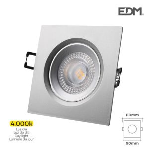 Downlight Led Encastrável 5W 380 Lumen 4.000K Quadrado Moldu