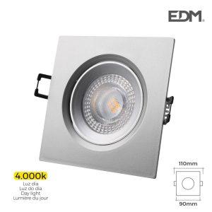 Downlight Led Encastrável 5W 380 Lumen 4.000K Quadrado Moldu