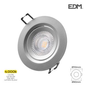 Downlight Led Encastrável 5W 380 Lumen  4.000K Redondo Moldu