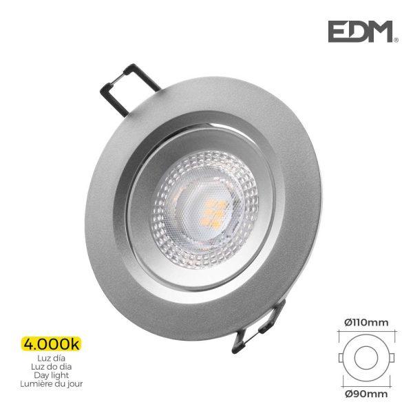 Downlight Led Encastrável 5W 380 Lumen  4.000K Redondo Moldu