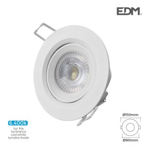 Downlight Led Encastrável 5W 6.400K Redondo Moldura Branca E
