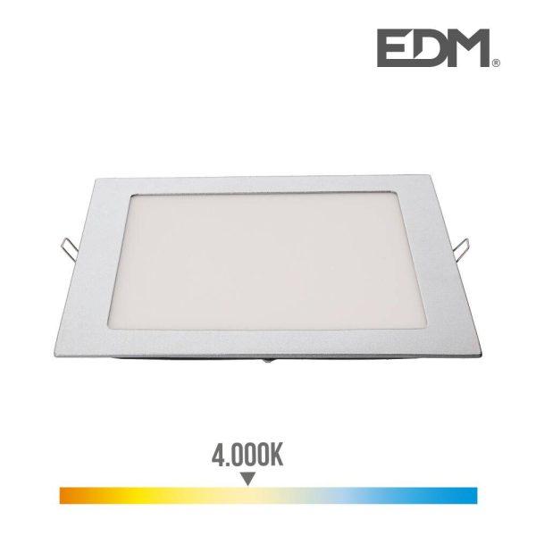 Downlight Led Encastravel Quadrado 20W 1500Lm 22X22Cm Moldur