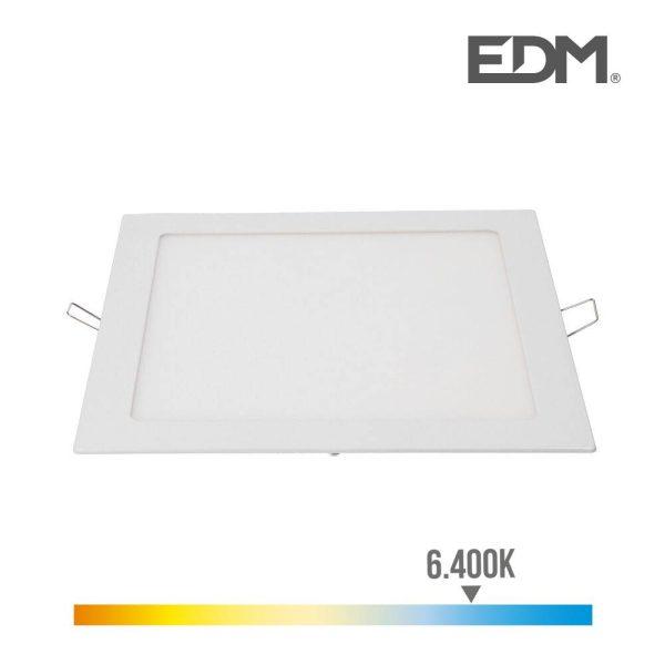 Downlight Led Encastravel Quadrado 20W 22X22Cm 1500Lm   Mold