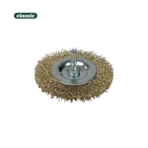 Escova Con Espiga Aço Ondulado - 50Mm Fac050