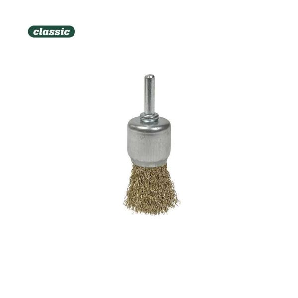 Escova Con Espiga Aço Ondulado - Broxa 12Mm  Fab012