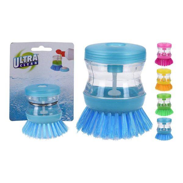 Escova Para Limpar Pratos Com Dispensador De Sabão Cores Sor