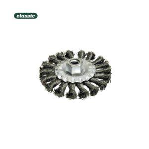 Escova Plana Aço Retorcido Com Rosca 14Mm  Fhr115