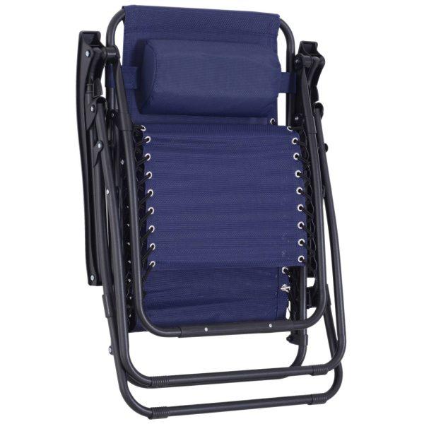 Espreguiçadeira dobrável Cadeira de jardim Gravidade zero Poltrona de Praia Relaxante em Textilene Encosto reclinável Carga de armação de aço 150kg