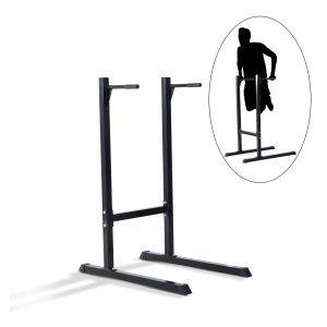 Estação Dip de Musculação Preto Aço Até 120kg