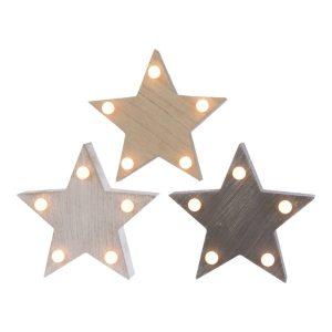 Estrela 5 Leds 3 Cores Diferentes 3