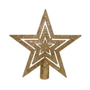 Estrela De Natal 15Cm Para Árvore Cores Sortidas
