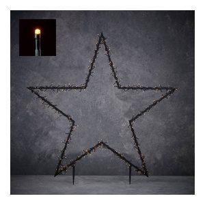 Estrela De Natal Com Estaca Para Jardim E Iluminação Led. In
